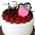 Sweety vanilla Strawberry cake