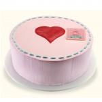 Claras Pink Valentine Cake