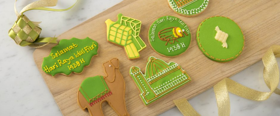Decorated Lebaran Cookies